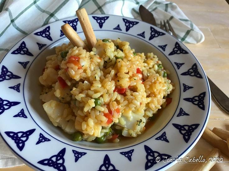 arroz-bacalao-azafrán-plato