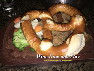 Pretzels, carrots, broccoli and more dippers to go with the Oktoberfest fondue at the Melting Pot restaurant in St. Petersburg, Florida.