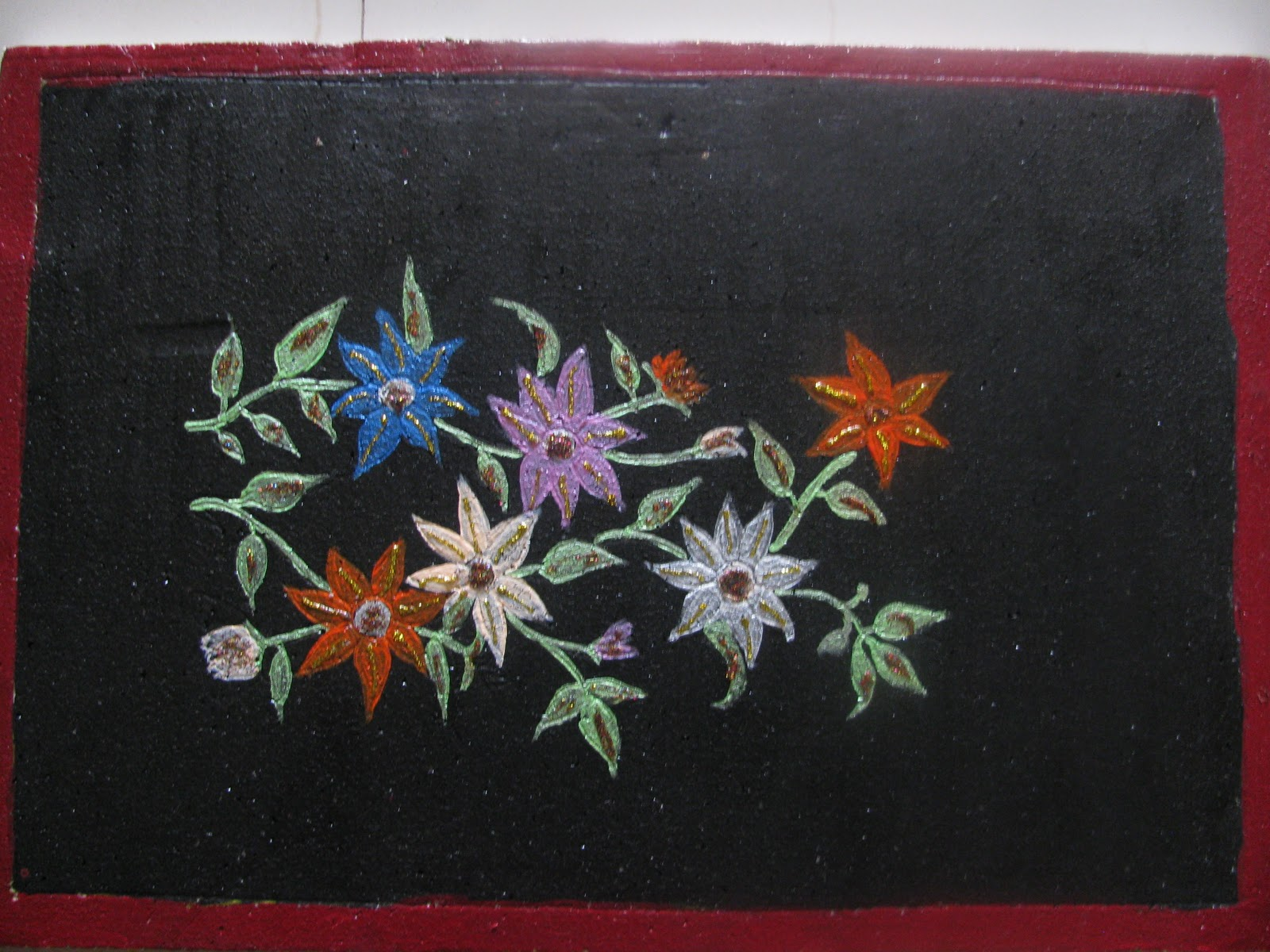 Sushma Designs: Simple Painting on thermocol