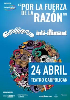 Concierto de Inti-Illimani y Los Jaivas se reprograma para el próximo 24 de abril