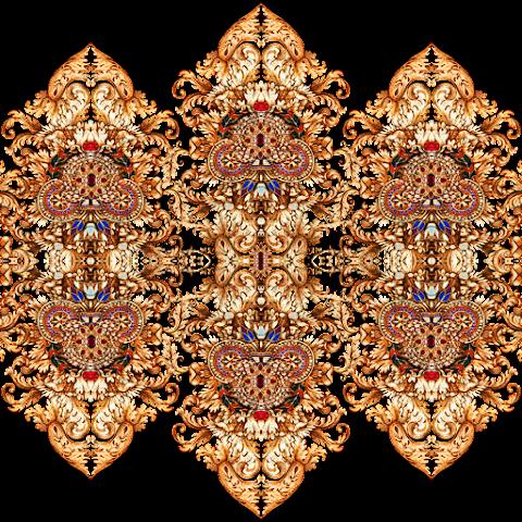 Damask-textile-patch-design-7003