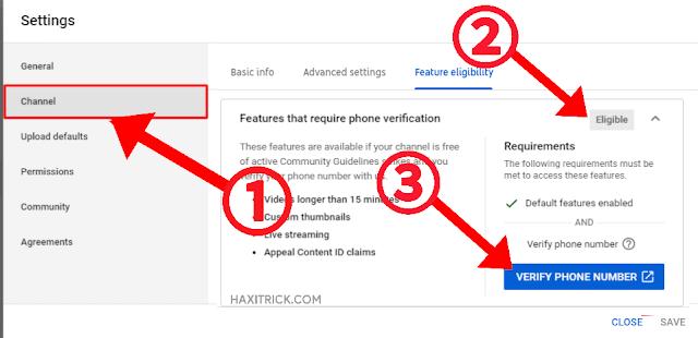 Verify YouTube Channel Phone Verification