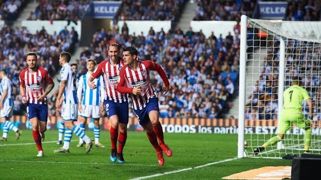 Hasil Liga Spanyol: Dua Gol Morata Menangkan Atletico atas Sociedad