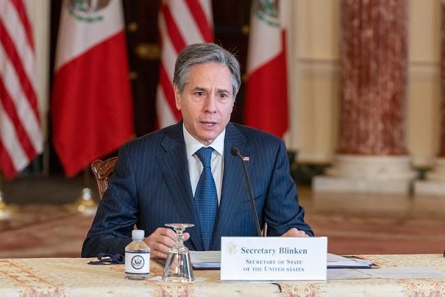 El canciller Marcelo Ebrard sostiene encuentro bilateral virtual con el secretario de Estado Antony Blinken