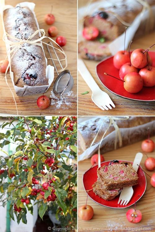 słodki chlebek z jabłuszkami rajskimi i orzechami laskowymi