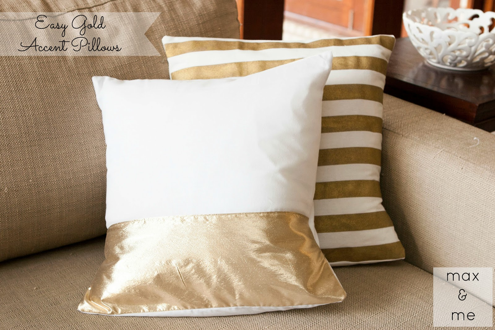Max  Me Easy Gold Accent Pillows  Pinterest Challenge