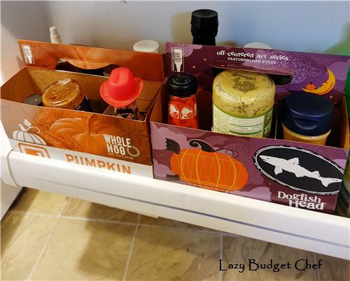 how to store condiments on refrigerator door
