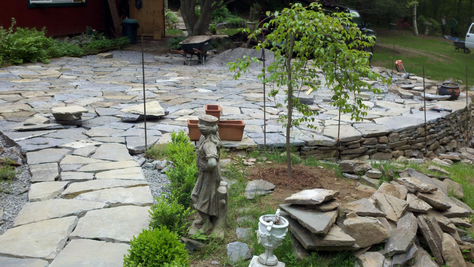 Fieldstone Rock Patios : Heave and hoe stone patio rediscovered well