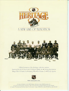 1992-93 NHL Heritage collection catalogue - 4