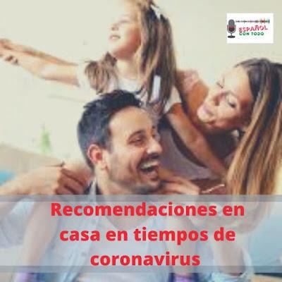 Recomendaciones en casa en tiempos de coronavirus