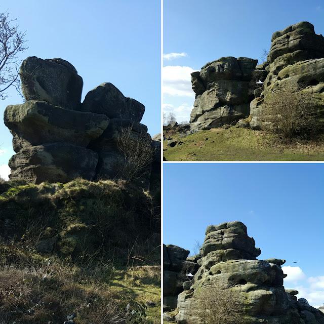 rock formations at brimham rocks
