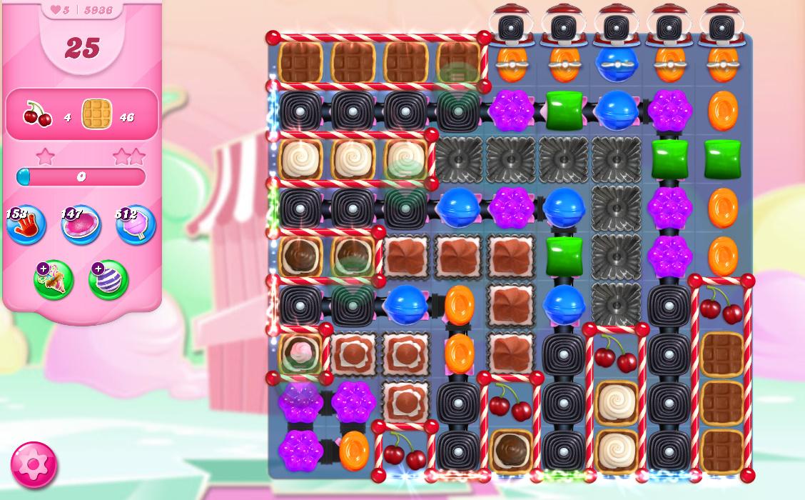 Candy Crush Saga level 5936