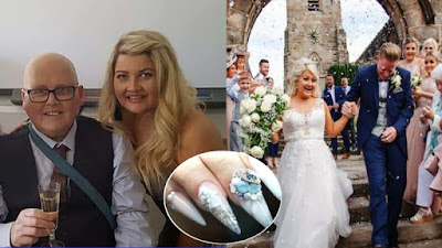 Nail artist, Charlotte-stoke-on-trent-bride-has-fathers-ashes-put-into-wedding-nails