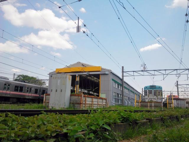 神田川 富士見ヶ丘の車両基地
