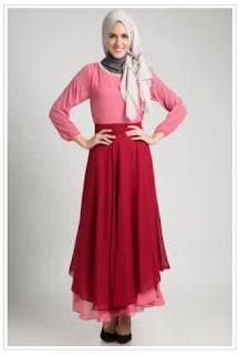 Desain Baju Gaun Muslim Wanita Terbaru
