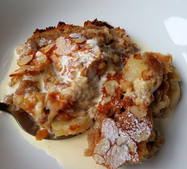 Pear, Almond & Coconut Impossible Pie
