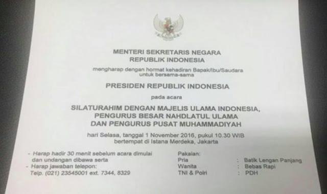 Nah lho! Jelang Aksi 4 November, Jokowi Undang PP Muhammadiyah, PBNU, MUI, TNI-POLRI Ke Istana Merdeka
