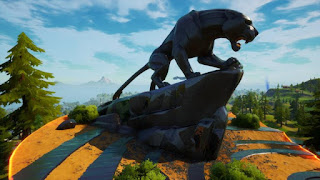 Fortnite black panther statue