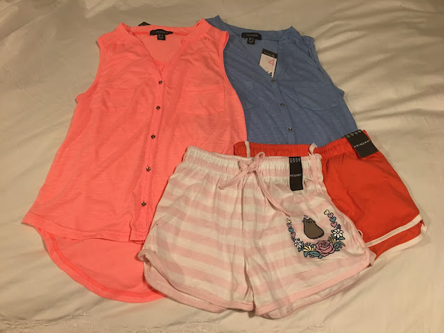 Two tops two shorts from Primark