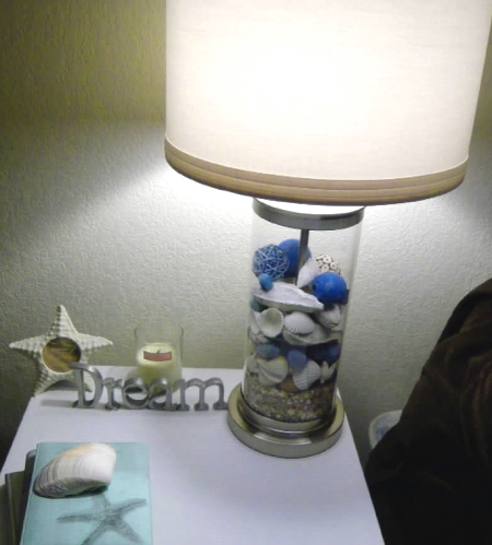 Beach Glass Lamps Filled Bright Decorating Idea For Beachcombers