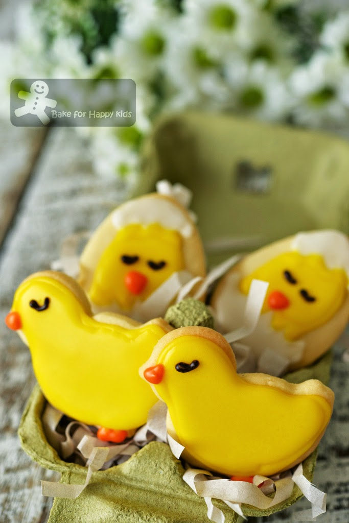 cut out Easter chick cookies