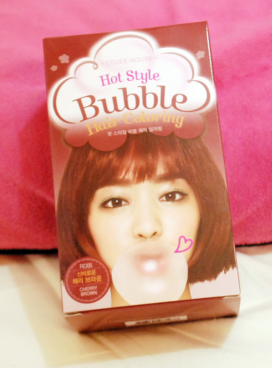Peachy Pink Sisters Etude House Hot Style Bubble Hair Coloring In Biore Bundle Bright Care So When Was On Sale Last December To January I Bought Some Of Their Dye Havent Tried Any Dyes Before Pretty Excited