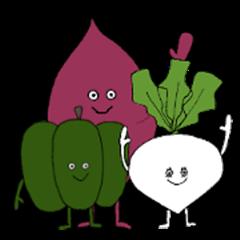Vegetable friends Sticker (autumn ver.)