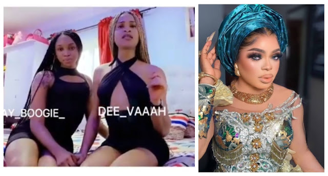 You're a very bad representation of the transgender community-Nigerian 'transgenders, Jay Boogie and Buchi Alexandra drag Bobrisky over his post (Video)