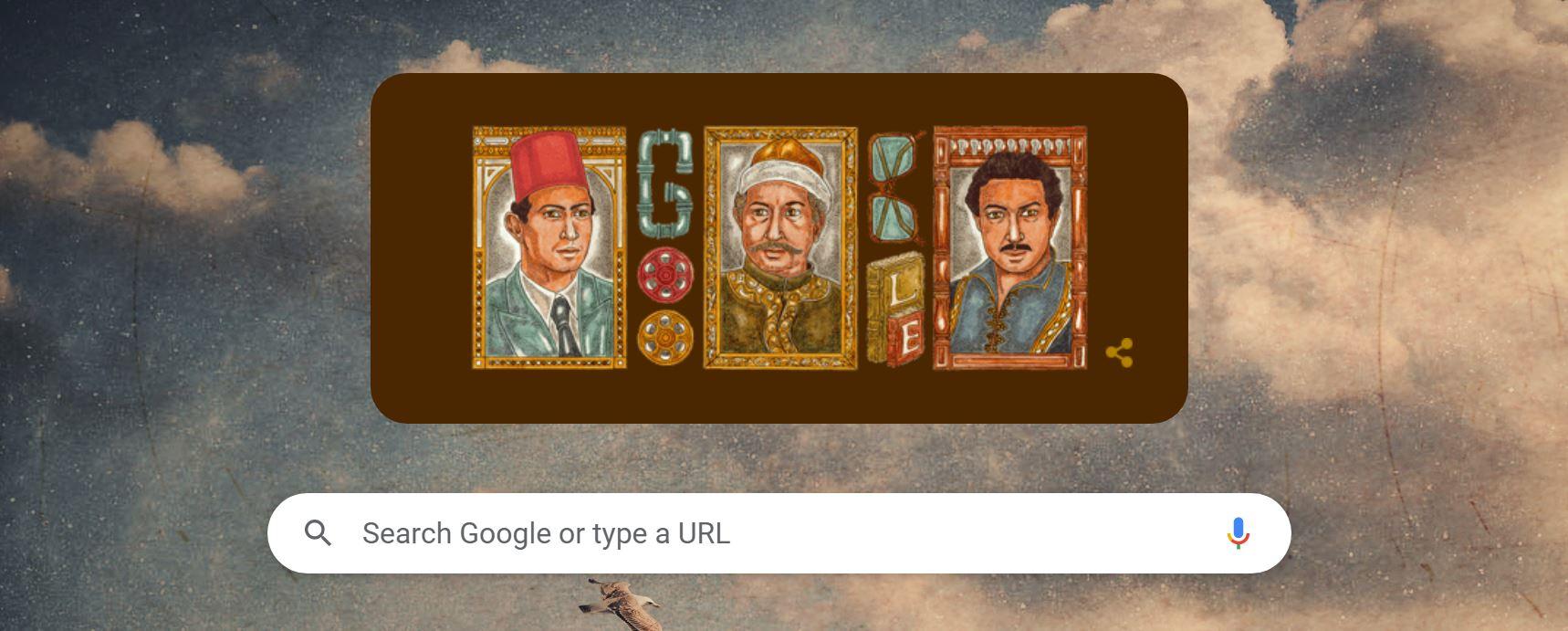 الاحتفال بذكرى الفنان نور الشريف على محرك غوغل