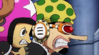 ワンピースアニメ 991話 ワノ国編 | ONE PIECE ウソップ チョッパー ブラキオタンク5号