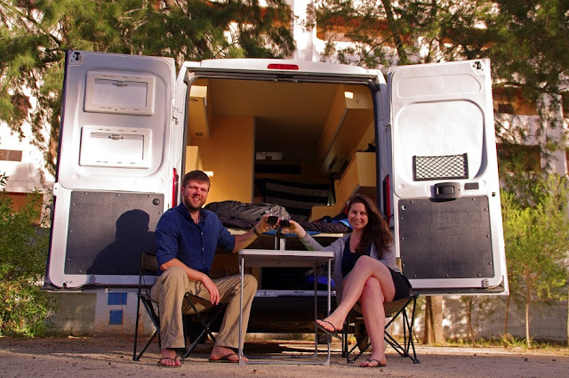 Couple in Campervan Portugal