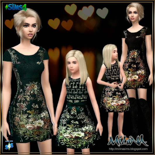 Dolce&Gabbana Floral brocade shift dress for mom and daughter for TS4