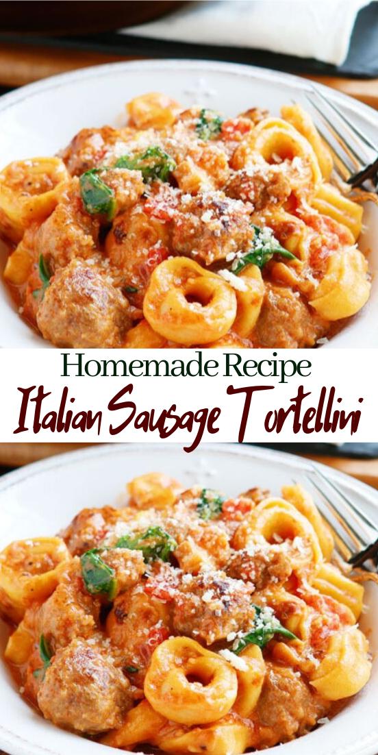 Italian Sausage Tortellini #dinnerrecipe #food #amazingrecipe #easyrecipe