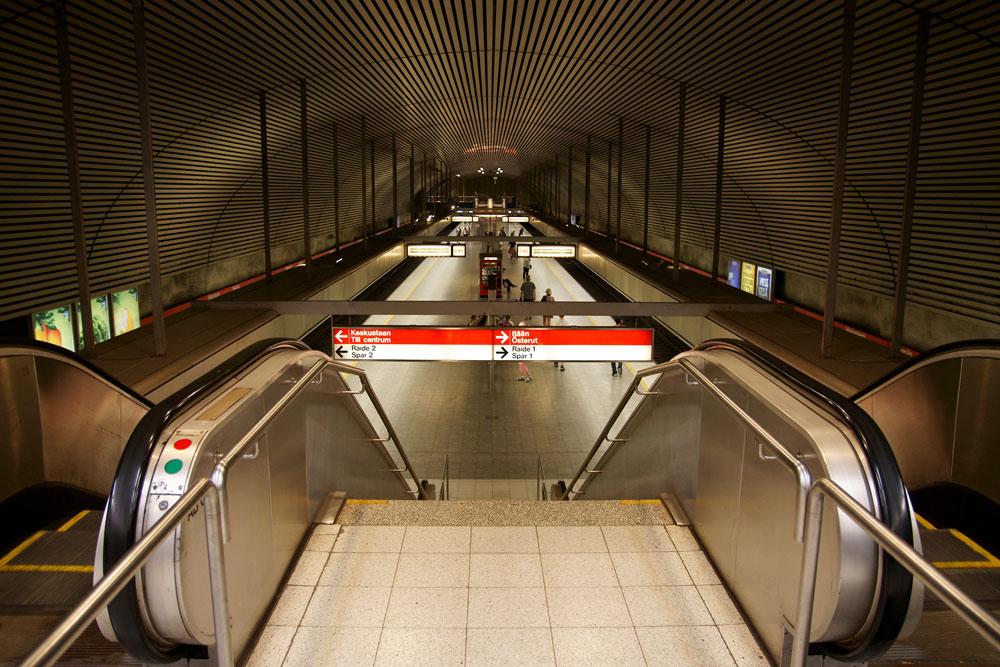 Hakaniemen metroasema.