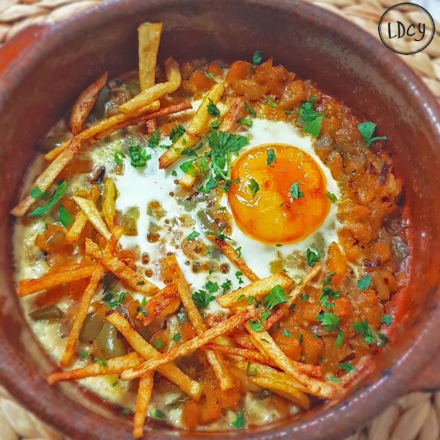 Calabaza Con Huevos En Cazuelita