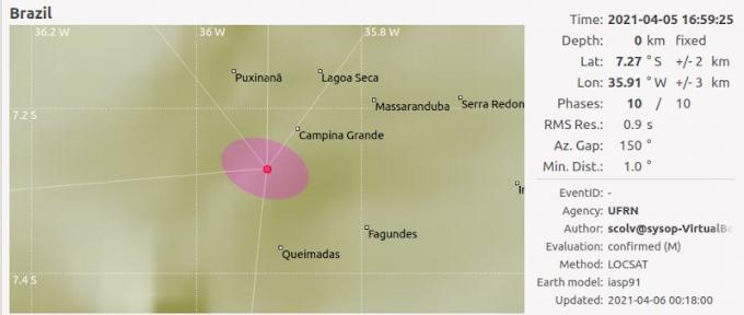 Especialista explica recentes terremotos na Paraíba e lembra que movimentos ocorrem há mais de 100 anos