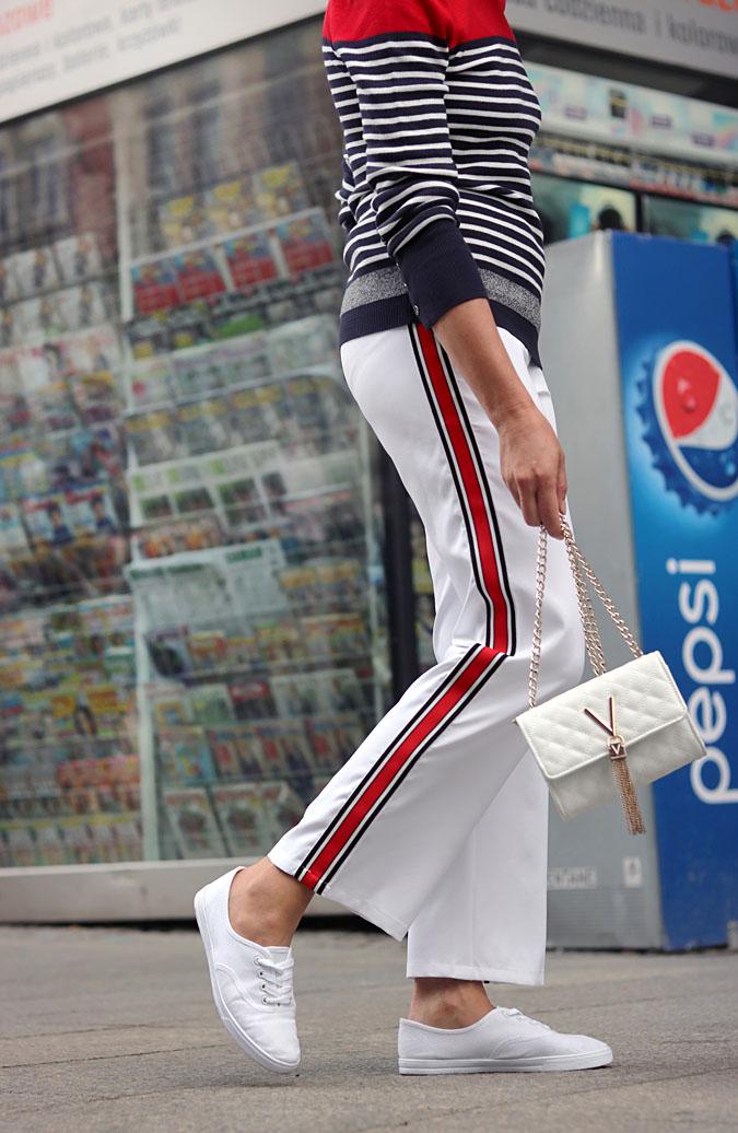 spodnie z lampasami stylizacje