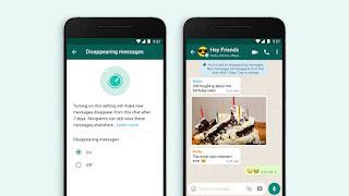 WhatsApp message éphémère