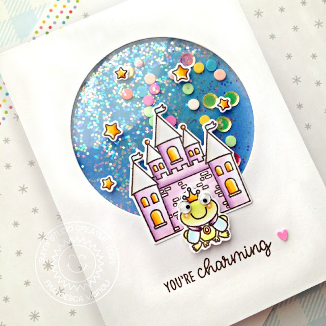 Sunny Studio Stamps: Enchanted Everyday Shaker Card by Franci Vignoli