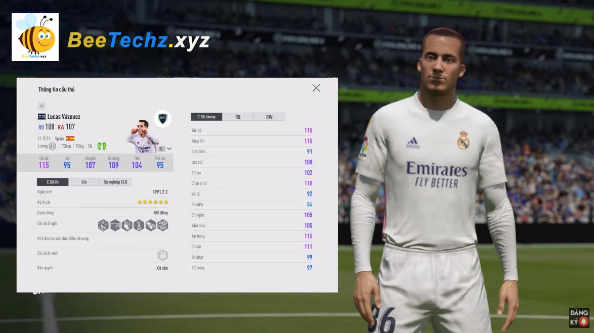 FIFA ONLINE 4 - Review Lucas Vazquez 21 TOST -  Hàng chạy cánh chất lượng Real Madrid