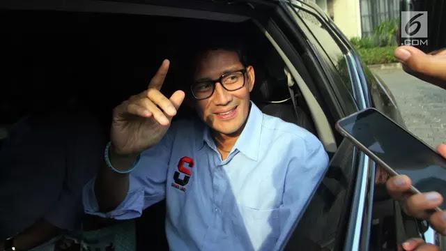Sandi soal Menang 62 Persen: itu Berdasar Info yang Pak Prabowo Terima