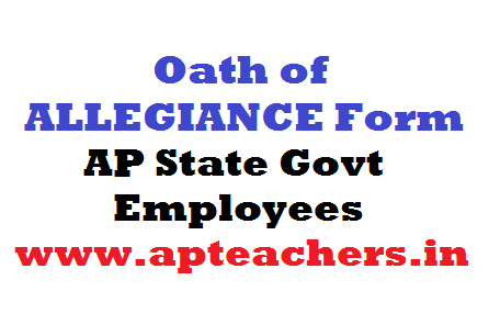 Oath of ALLEGIANCE Form - AP State Govt Employees