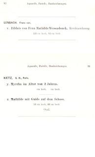 Otto Wesendonck: Katalog B mit Anhang. IV. Berlin 1888