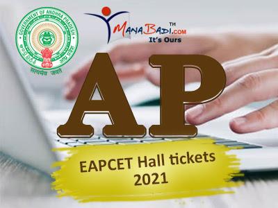 AP EAPCET Halltickets 2021