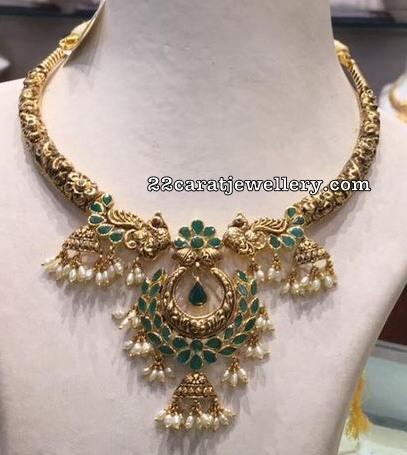 Nakshi Choker with Emeralds
