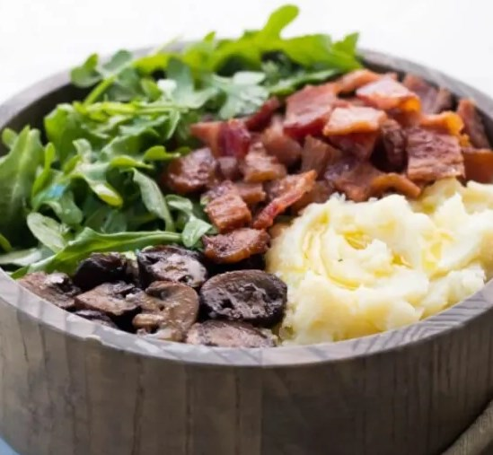 Mashed Cauliflower Breakfast Bowls (Whole30, AIP) #diet #lowcarb