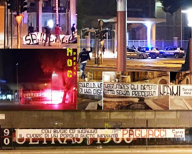 Foggia, [ESCLUSIVA ULTIM'ORA] striscioni contro il Foggia Calcio. Allertata la Polizia