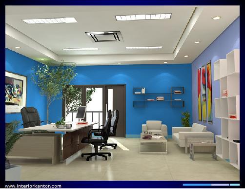Blue Sky On Modern Office Interior