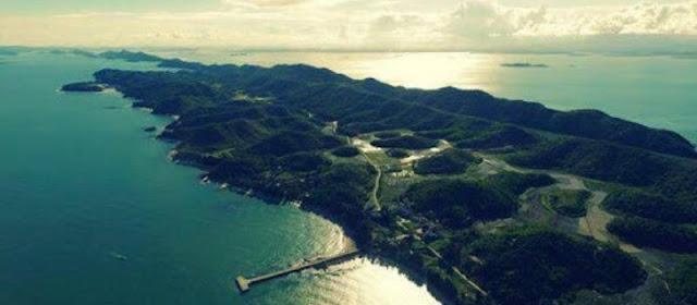 beauté naturelle de l'île Cai Chien