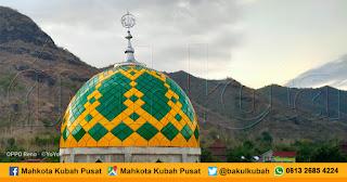 Pemasangan Kubah Masjid Enamel Seteluk - Sumbawa Barat